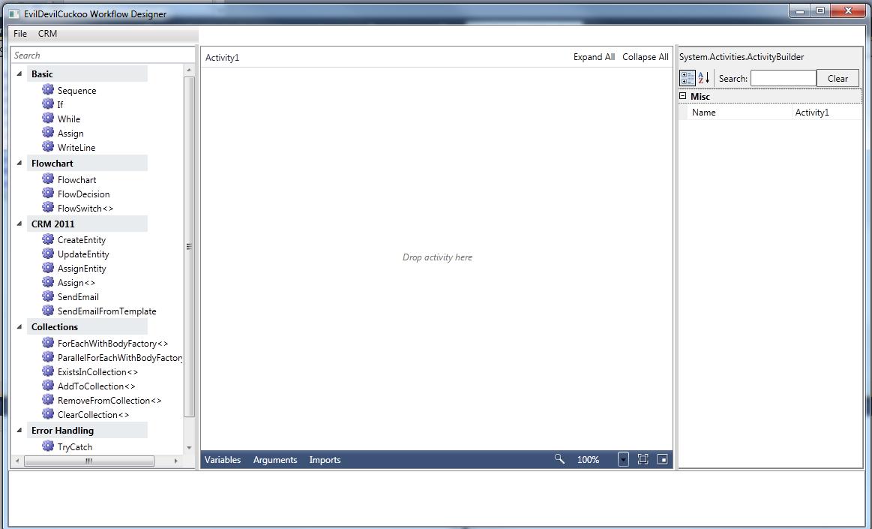 MSCRM Workflow Designer